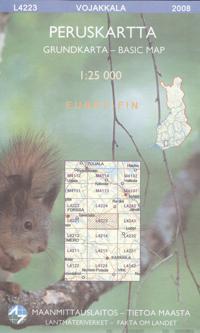 Maastokartta L4223 Vojakkala peruskartta 1:25 000