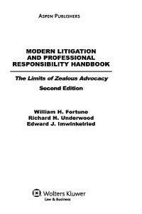 Modern Litigation and Professional Responsibility Handbook